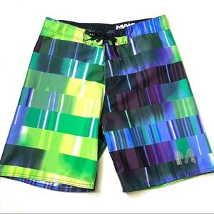 Mahi Mahi Abstract Color Block Board Shorts